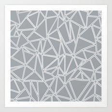 Ab Blocks Grey #2 Art Print