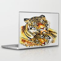 tigers Laptop & iPad Skins featuring Tigers by DrewzDesignz