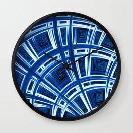 Plaid Splash - Fractal Art Wall Clock