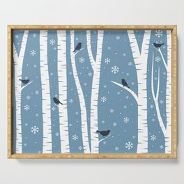 Birch Forest - Winter Idyll Serving Tray