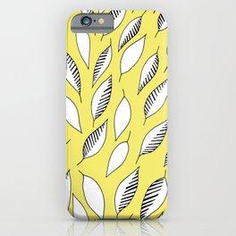 Yellow Zebra Leaves iPhone Case