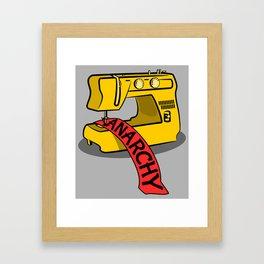 Anarchy Sewing Machine Framed Art Print