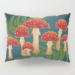 Magic Mushroom Fern Forest Navy  Pillow Sham