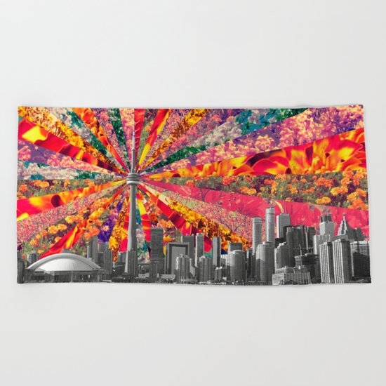 Blooming Toronto Beach Towel