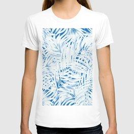 Tropical Palms Blue T-shirt