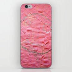 Smile on a pink toilet paper iPhone Skin