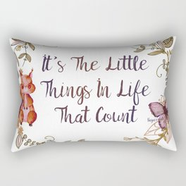 It's The Little Things In Life That Count II - Bagaceous Rectangular Pillow
