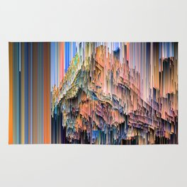 Weird Glitches - Abstract Pixel Art Rug
