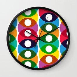 Geometric Pattern #64 (colorful bubbles) Wall Clock