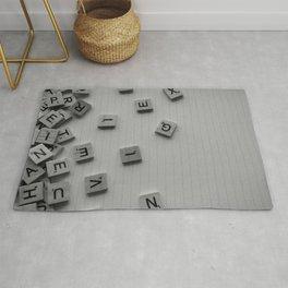 Scrabble letters Rug