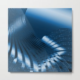 Phantasie in Blau 3 Metal Print