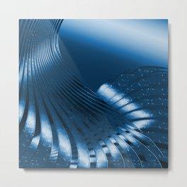Phantasie in Blau 3 Metal Print
