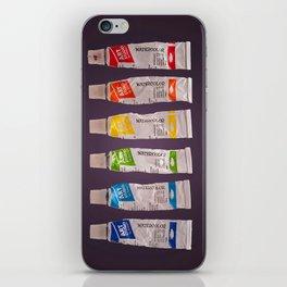 watercolor tubes iPhone Skin