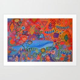 Free Floating Art Print