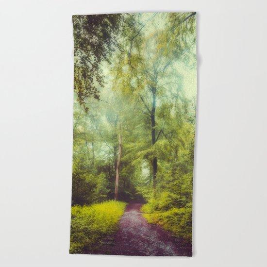 Dreamy Forest Beach Towel