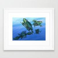 ninja turtles Framed Art Prints featuring Ninja Turtles by MrDenmac