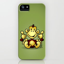 Manic Monkey with 4 thumbs up iPhone Case