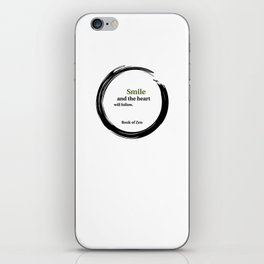 Zen Smile & Heart Quote iPhone Skin