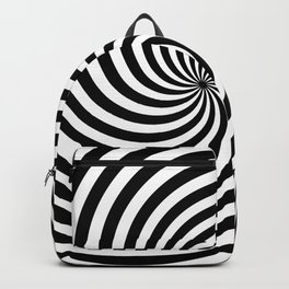 Black And White Op Art Spiral Backpack
