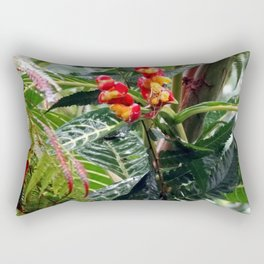 Tropical Heliconia Flowers 03 Rectangular Pillow
