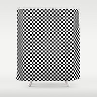 chess Shower Curtains featuring Chess Board by ArtSchool