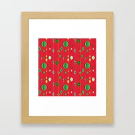 Retro Christmas Framed Art Print