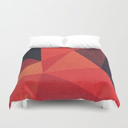 Abstract geometric patter.Triangle background Duvet Cover