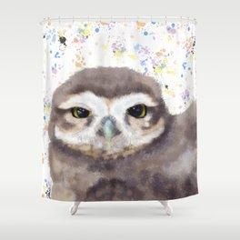 Little Owl (burrowing owl) Shower Curtain
