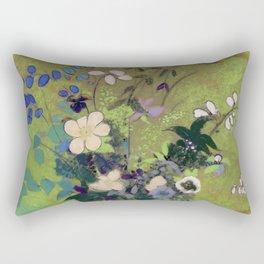 """Odilon Redon """"Vase Au Guerrier Japonais"""" Rectangular Pillow"""