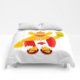 Moody Maple Moose character footy fan Comforters