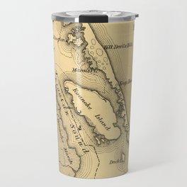 Vintage Map of The Outer Banks (1862) Travel Mug