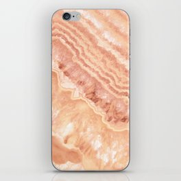 Champagne onyx marble iPhone Skin