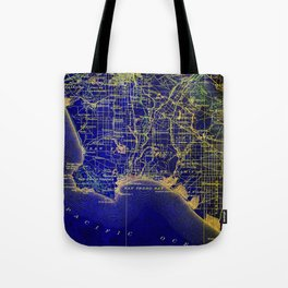 San Pedro Bay OLD MAP 1904, united states vintage maps Tote Bag