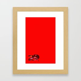 red snake Framed Art Print