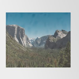 Tunnel View, Yosemite National Park V Throw Blanket