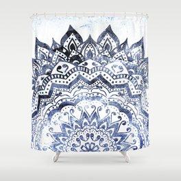 BLUE ORION JEWEL MANDALA Shower Curtain