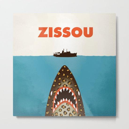 Zissou The Life Aquatic Metal Print