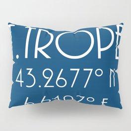 St. Tropez Latitude Longitude Pillow Sham