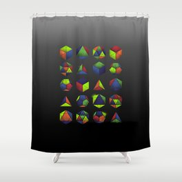 Sacred Shapes & Colors Shower Curtain