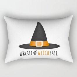 #RestingWitchFace Rectangular Pillow