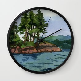 Trees Off The Coast of Vancouver Island Wall Clock