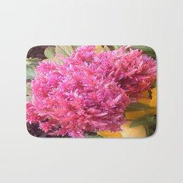 A Pink Celosia Bath Mat