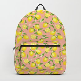 You're the Zest - Lemons on Pink Backpack