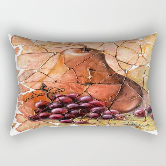 Pear & Grapes Fresco Rectangular Pillow