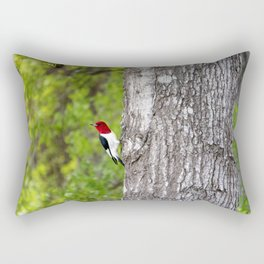 Red-headed Woodpecker Rectangular Pillow