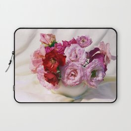 Red pink roses wedding bouquet - floral photogrpaphy Laptop Sleeve