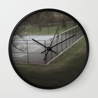 tennis Wall Clocks featuring Tennis by James Lyle