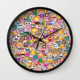 emoji / emoticons Wall Clock