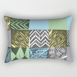 Colour block pastel Rectangular Pillow