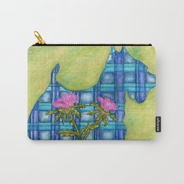 Scottish Terrier Silhouette Carry-All Pouch